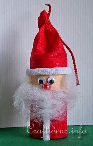 How to Recycle Recycled Santa Claus Ornaments ~ 043503_Christmas Decoration Ideas Using Toilet Paper Rolls