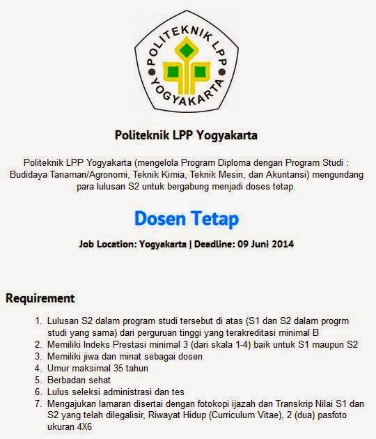 lowongan-kerja-dosen-politeknik-2014