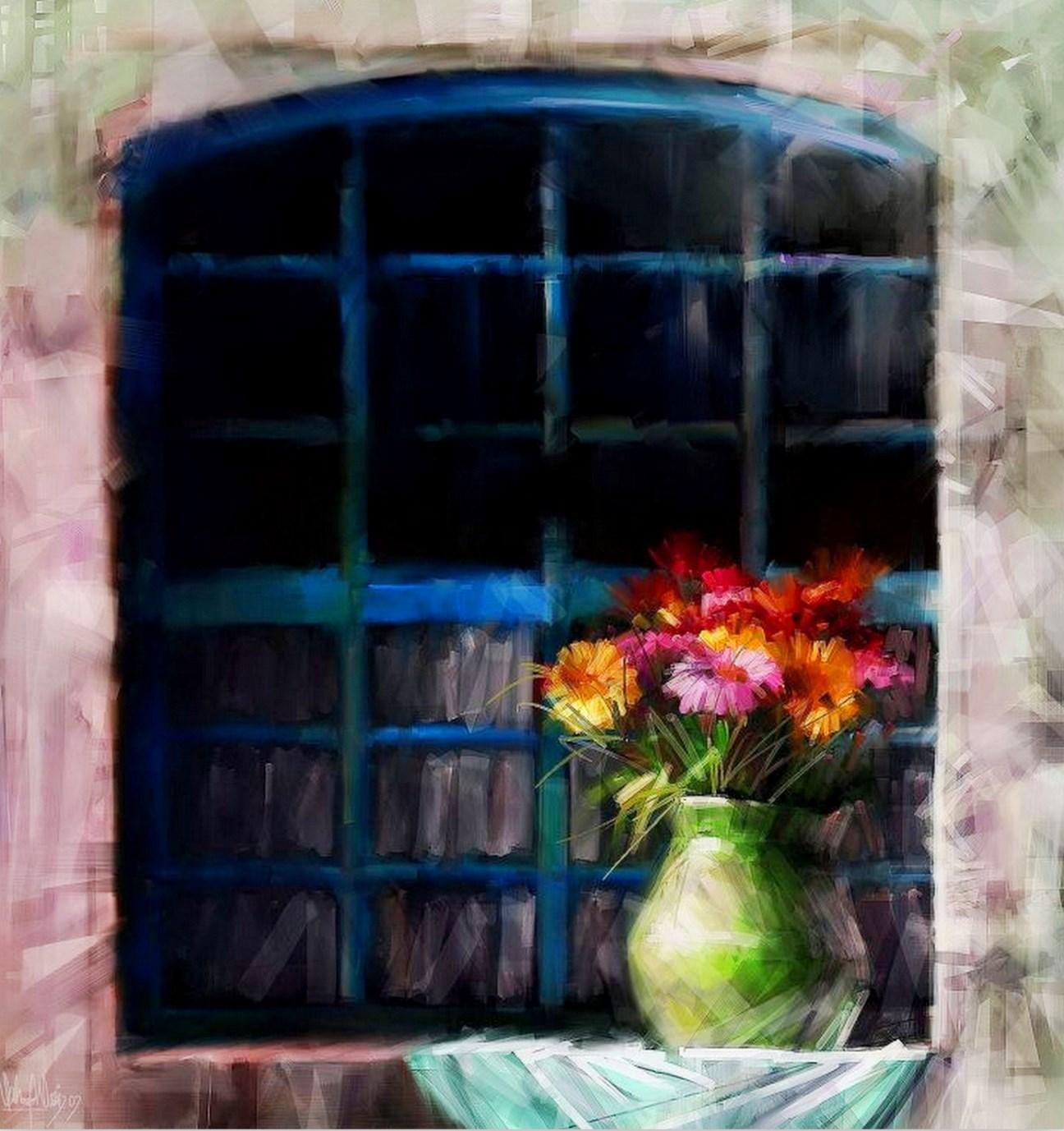 Cuadros modernos pinturas y dibujos jarrones y flores al - Fotos jarrones con flores ...