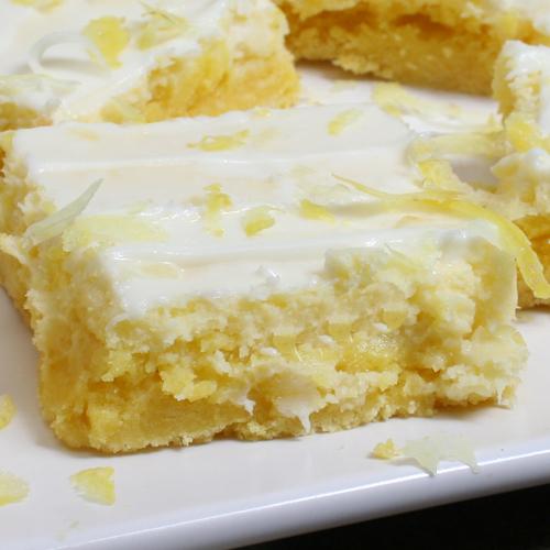 Cream Cheese Lemon Squares With Cake Mix