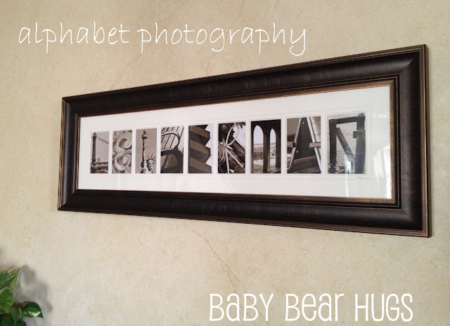 alphabet photography custom artwork