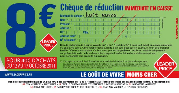 Bon De Reduction Leader Price A Imprimer