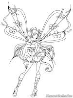 Gambar Kartun Winx Club Untuk Diwarnai-Anak