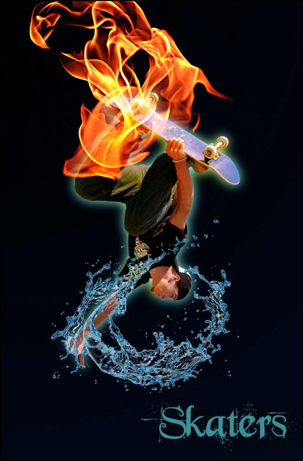 Tutorial Skater In Fire dan Water