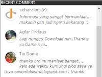 Cara Membuat Widget Recent Comment di Blog