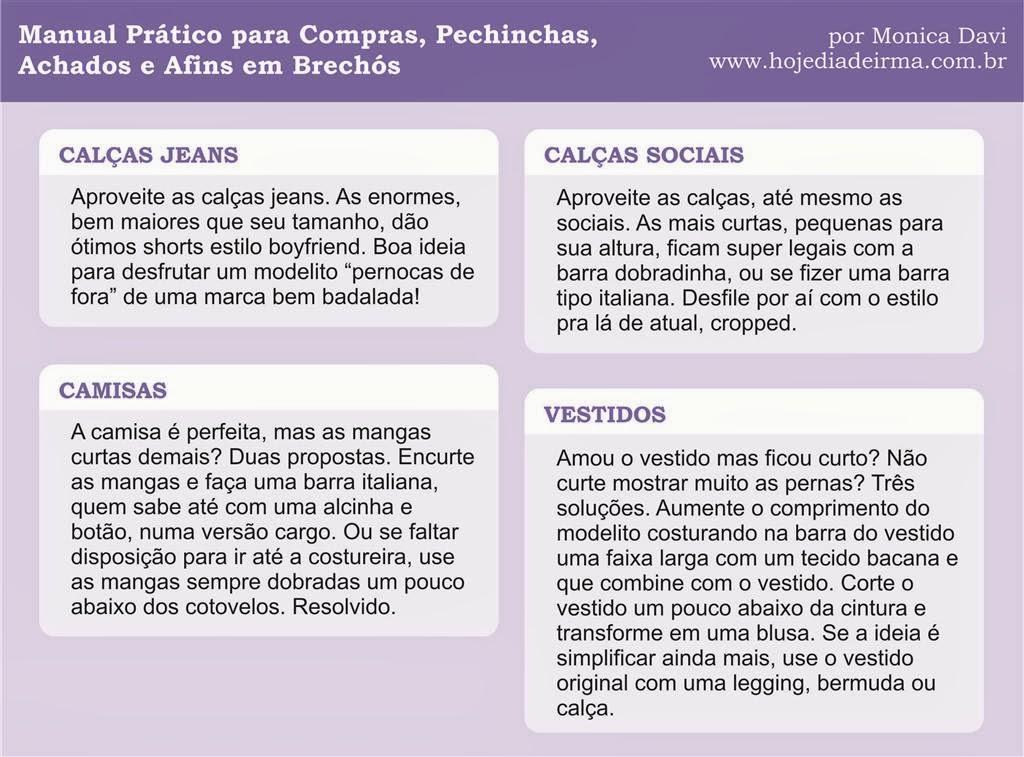 Manual prático para compras, pechinchas, achados e afins em brechós - parte 1