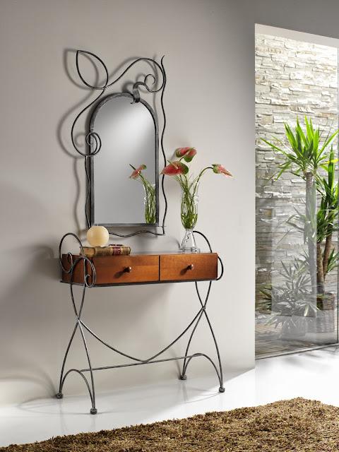 Decoração com mobiliário de ferro forjado ~ Decoração e Ideias