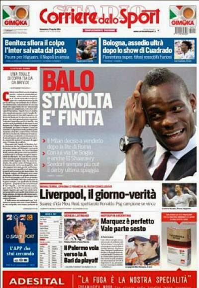 AC Milan to sell Spurs target Balotelli