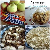 Äppelpaj med daim