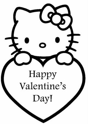 Hello Kitty Valentines Day Coloring on happy birthday nerd