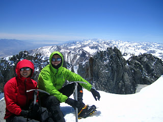 At the summit of Split Mountain.