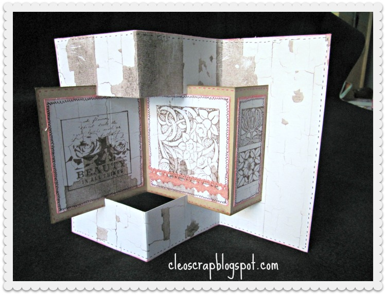 Cleo scrap and the other things: Tarjeta Triptico
