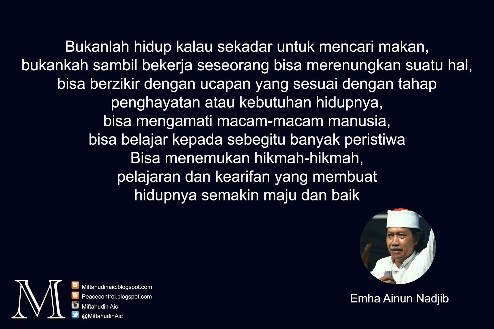 Kata Kata Bijak Emha Ainun Najib Cak Nun Peace Control