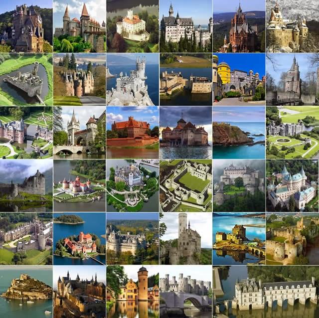 Castles in the world - Castelos pelo Mundo - Castillos en el Mundo - Châteaux dans le monde Burgen und Schlösser in der Welt - Castelli del mondo - Kastelen in de wereld