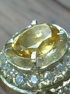 natural yellow zirkon