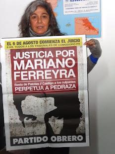 LA PERIODISTA ADA BARTOLINI TAMBIÉN PIDE JUSTICIA POR MARIANO