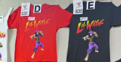fotos del merchandising de la gira tour concierto conciertos drake vs lil wayne