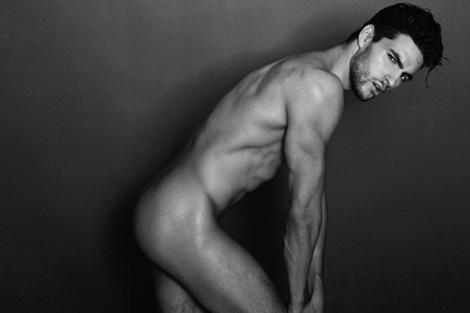 Canadian model Kevin Cote naked