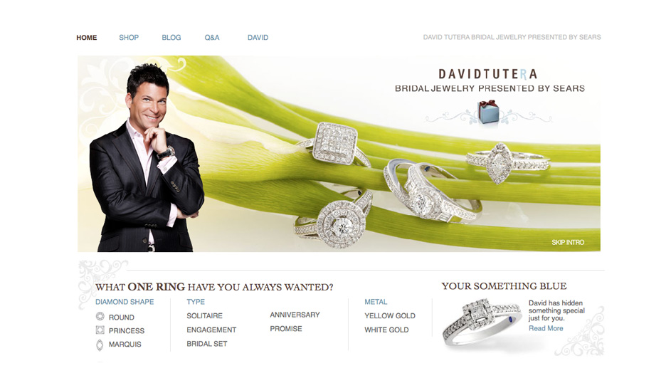 find the perfect engagement ring for you or your fianc from wedding planning extraordinaire david tutera on searscom tuteras new line of premium - David Tutera Wedding Rings