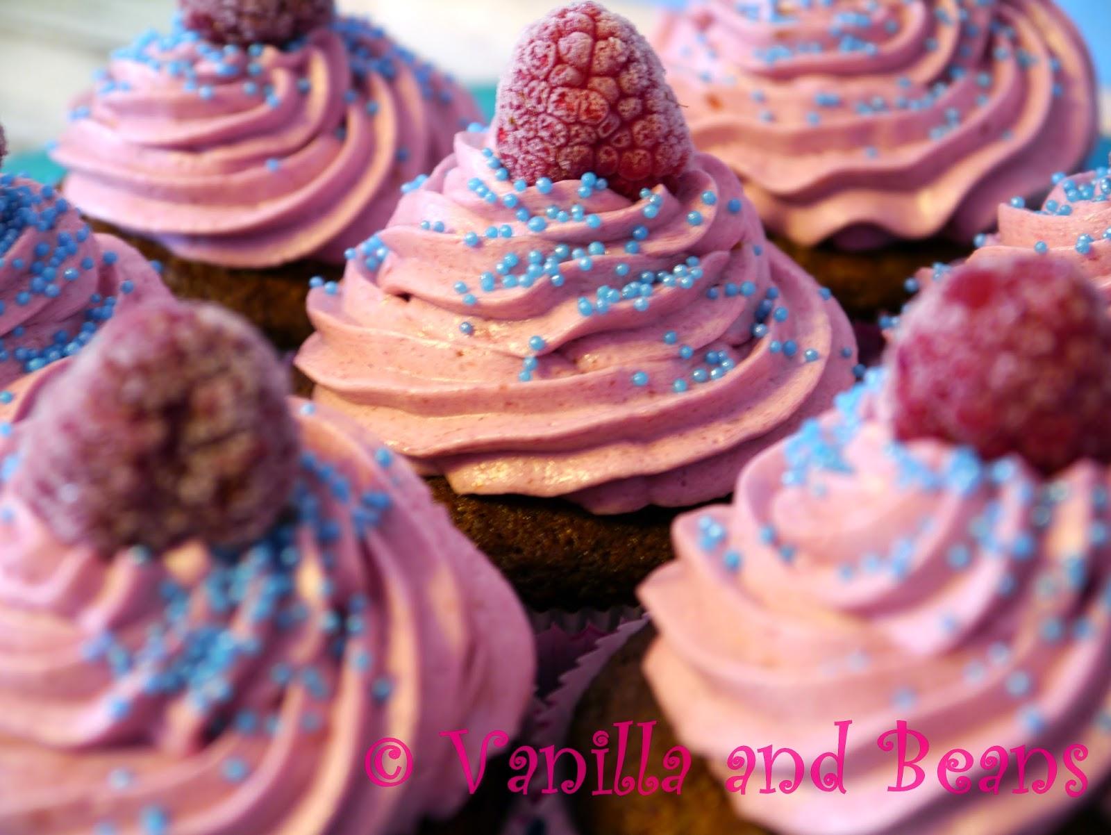 Himbeer-Pfirisch-Cupcakes *vegan*