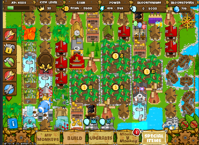 Bloons Monkey City - Build Your Own Town - Bloons Tower ...