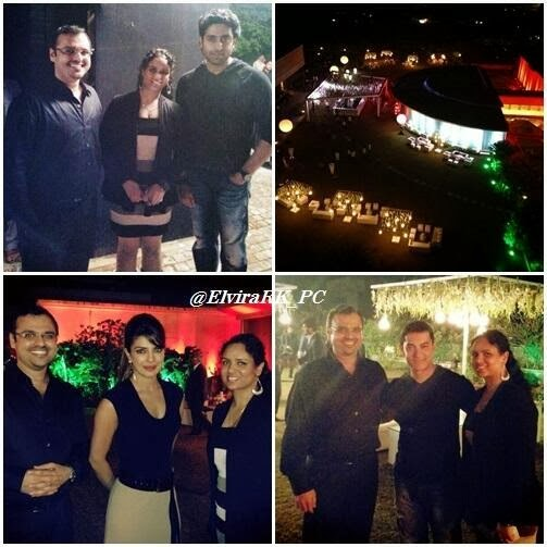 Katrina, Aamir, Abhishek, Priyanka at Dhoom 3 success party