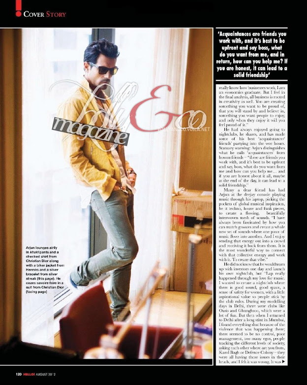 Arjun & Mehr Rampal Hello India Magazine Scans