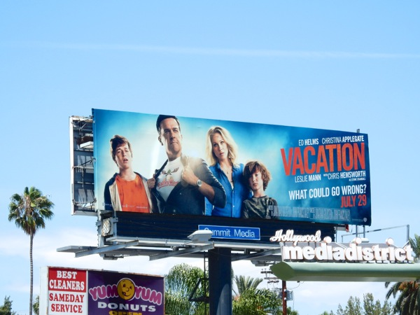 Vacation film billboard