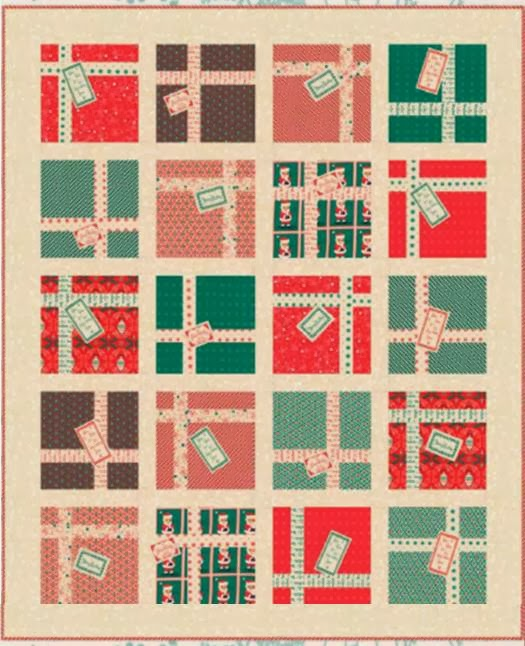 Free Quilt Patterns Moda Fabrics : Quilt Inspiration: Free pattern day: Christmas part 2: Gifts, ornaments and wreaths