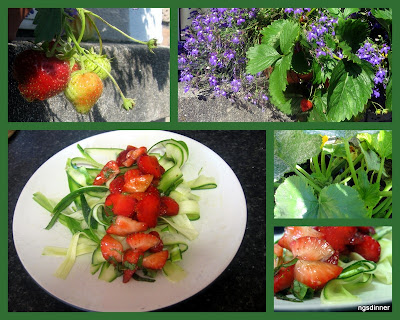 Zucchini Ribbon Strawberry Salad by ng @ What's For Dinner?