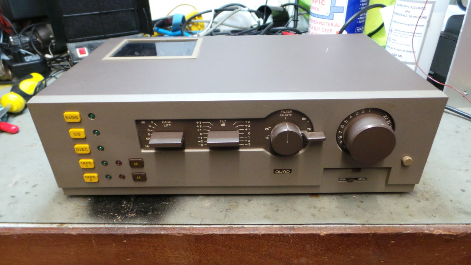 Doz Blog Quad 44 Pre Amp Minor Restoration And Some Sensible Switchable Wiring Harness Diagram The Is A Very Interesting Its Got Lovely Design Of Tone Control Went Their Own Way With Adding Controls Made Theirs 3