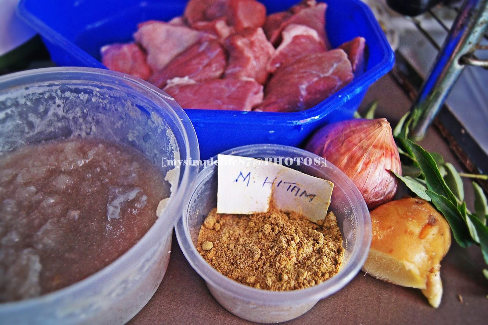 Daging Masak Hitam Mamak Lauk Daging Masak Hitam