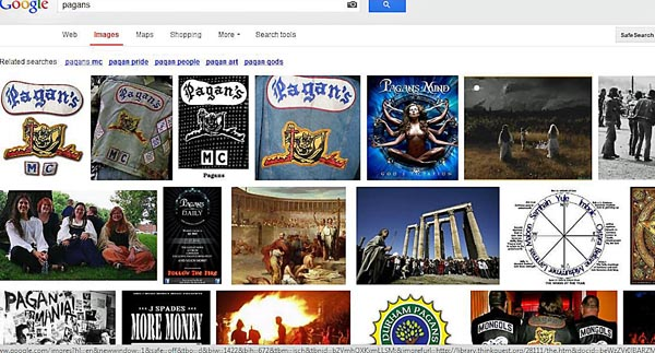 google search results for pagans