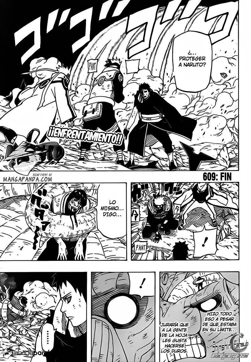 """Naruto shippuden 609 """"Fin"""" [manga]"""