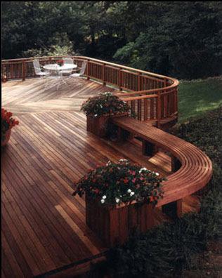patio terraza de madera deck