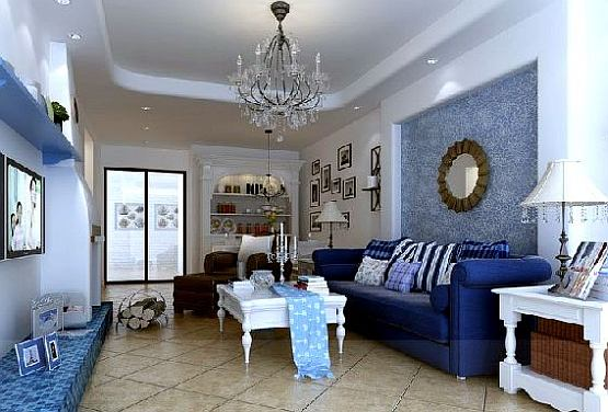 Living room design blue living room colors ideas for Colorful interior design ideas