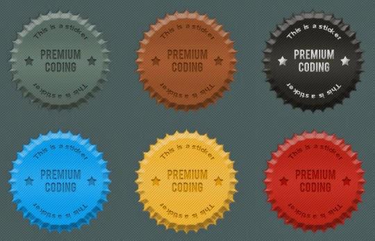 6 Fancy Cork Stickers