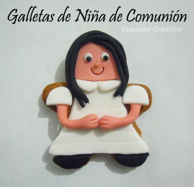 Galletas de Niña con Vestido de Comunión