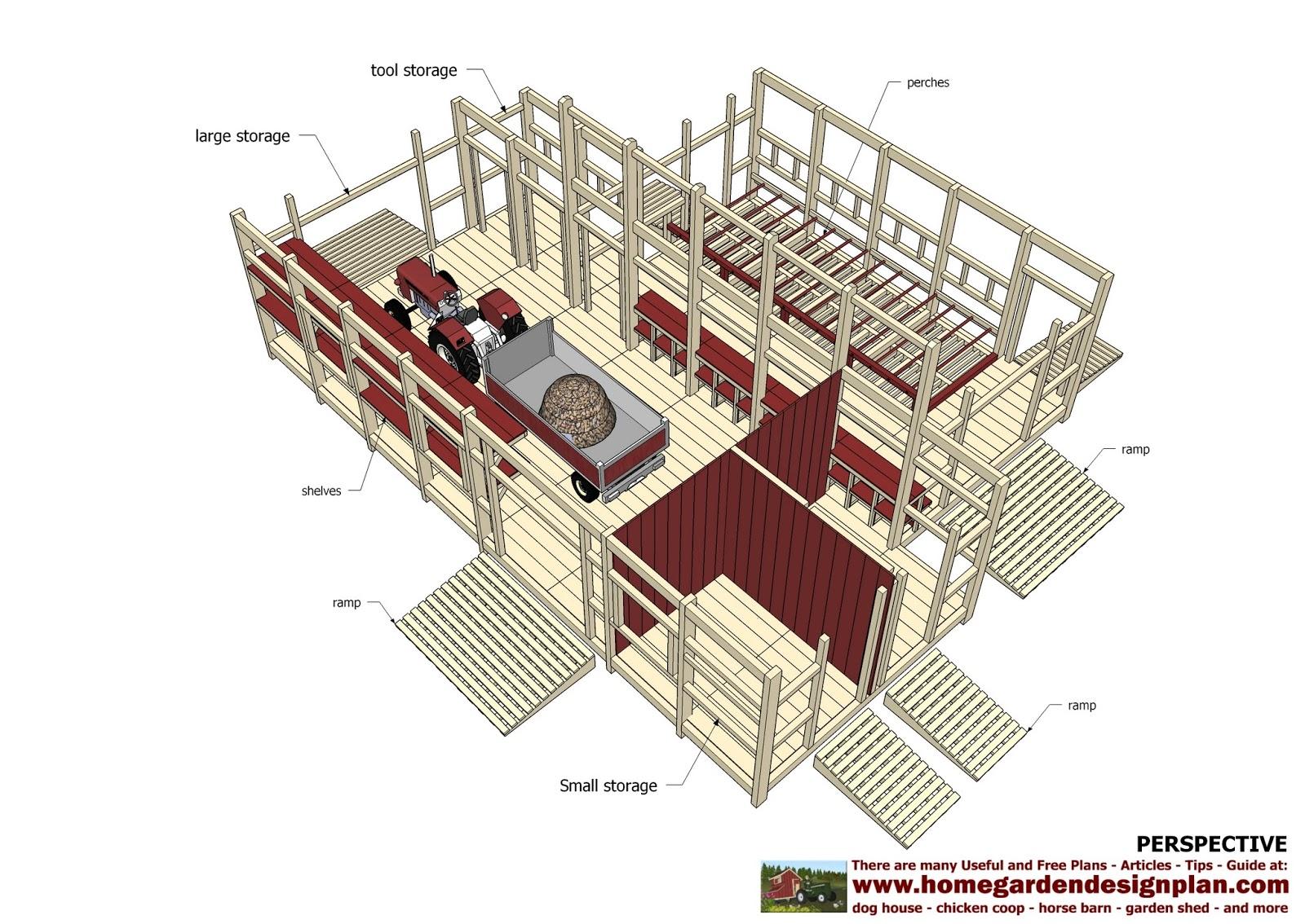 Home garden plans cs100 chicken coop plans garden for Chicken ark plans free download
