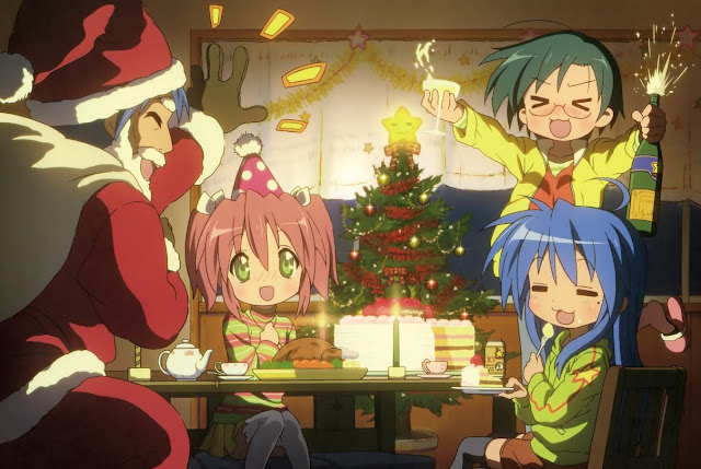 Lucky star, anime christmas,anime xmas