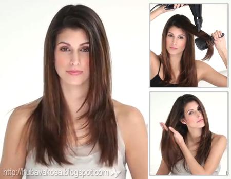 Изправяне на коса със сешоар у дома