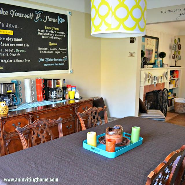 dining room and coffee bar