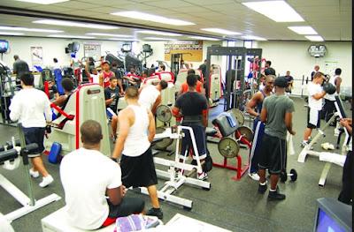 Претъпкана зала за фитнес