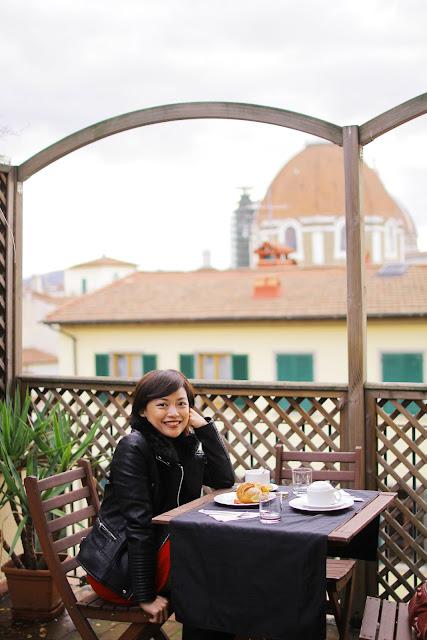 Bershka jacket, hotel, duomo, view, Florence, Italy, Europe, Honeymoon, travel