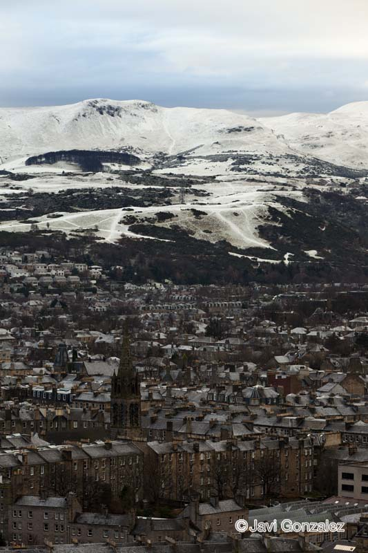 Edinburgh, snow, nieve, Scotland,