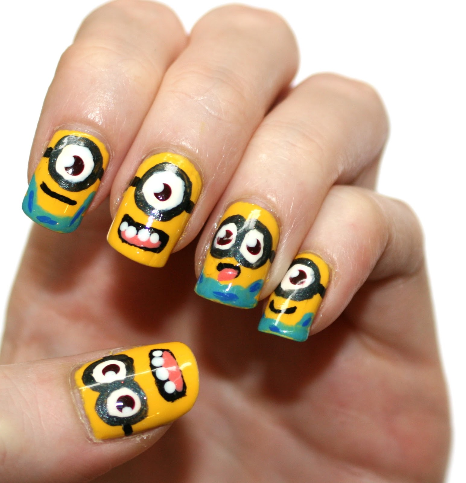 evlady: Despicable Me Minion Nail Art & Pictorial