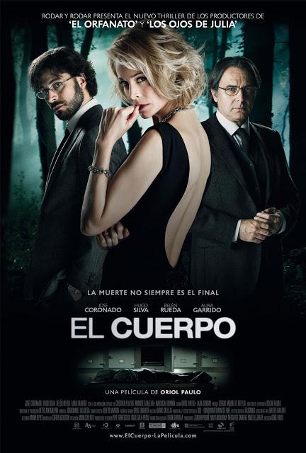 Portada de la película el cuerpo, protagonizada por Hugo Silva, Belén Rueda y José Coronado