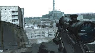 mapa de pripyat no jogo call of duty 4 modern warfare em missão sniper