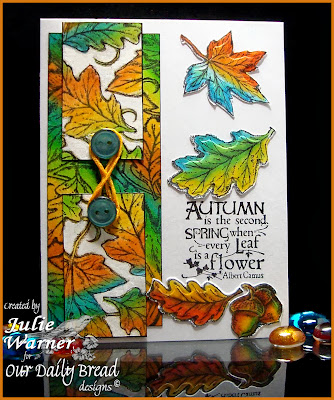 Stamps - Our Daily Bread Designs Leaves BG, Autumn Blessings, ODBD Custom Fall Leaves and Acorn Die