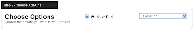 Step 2: Choose Window Perf Add-Ons